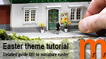 Tutorial how to model some traditional Easter accessories for your model railroad or miniature terrain