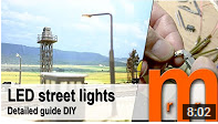 Build your own street lights using SMD-LEDs. Easy to customize to any scale